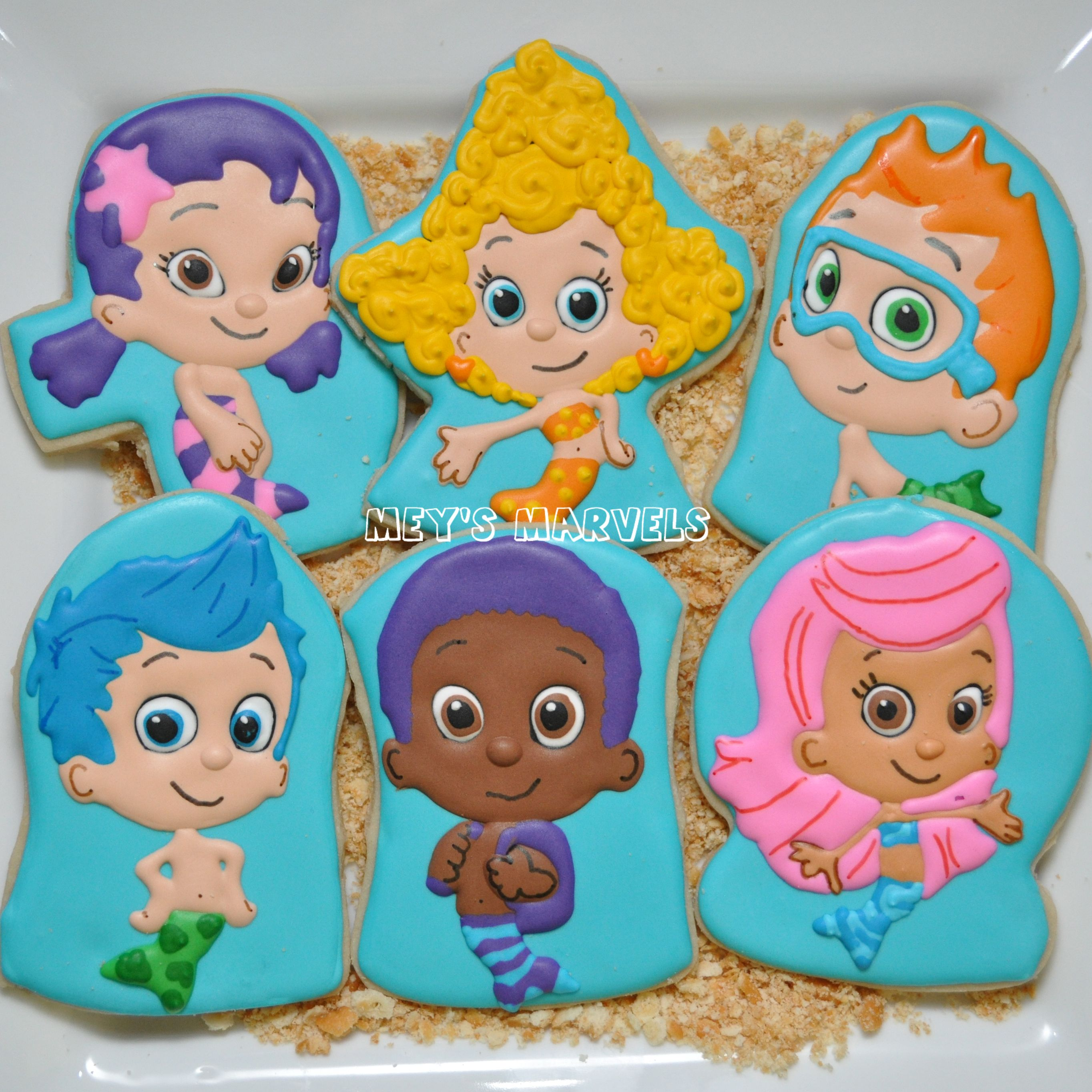 Bubble Guppies Cookies (Oona, Deema, Nonny, Gil, Goby, and Molly ...