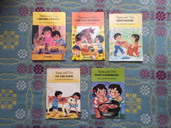 Three 1970s Topsy And Tim Books Lovely Vintage Children S Books