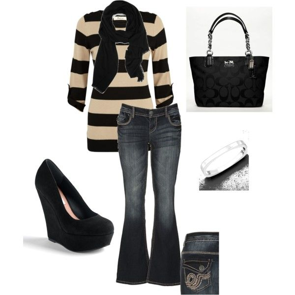 Casual, created by on Precis Petite Steve Madden~ I like everything but the  shoes  <div class=