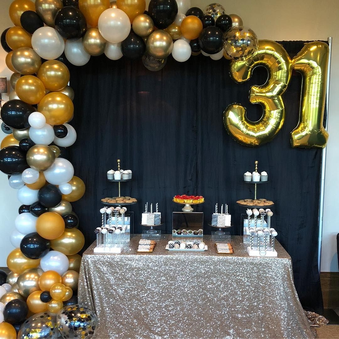 31st Birthday Party Sweets Table Golden Birthday Parties
