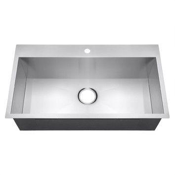 32 L X 18 W Drop In Kitchen Sink Drop In Kitchen Sink Single Basin Kitchen Sink Top Mount Kitchen Sink