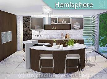 Simcredible Designs 4 Kitchens 1 Sims 4 Kitchen Pinterest