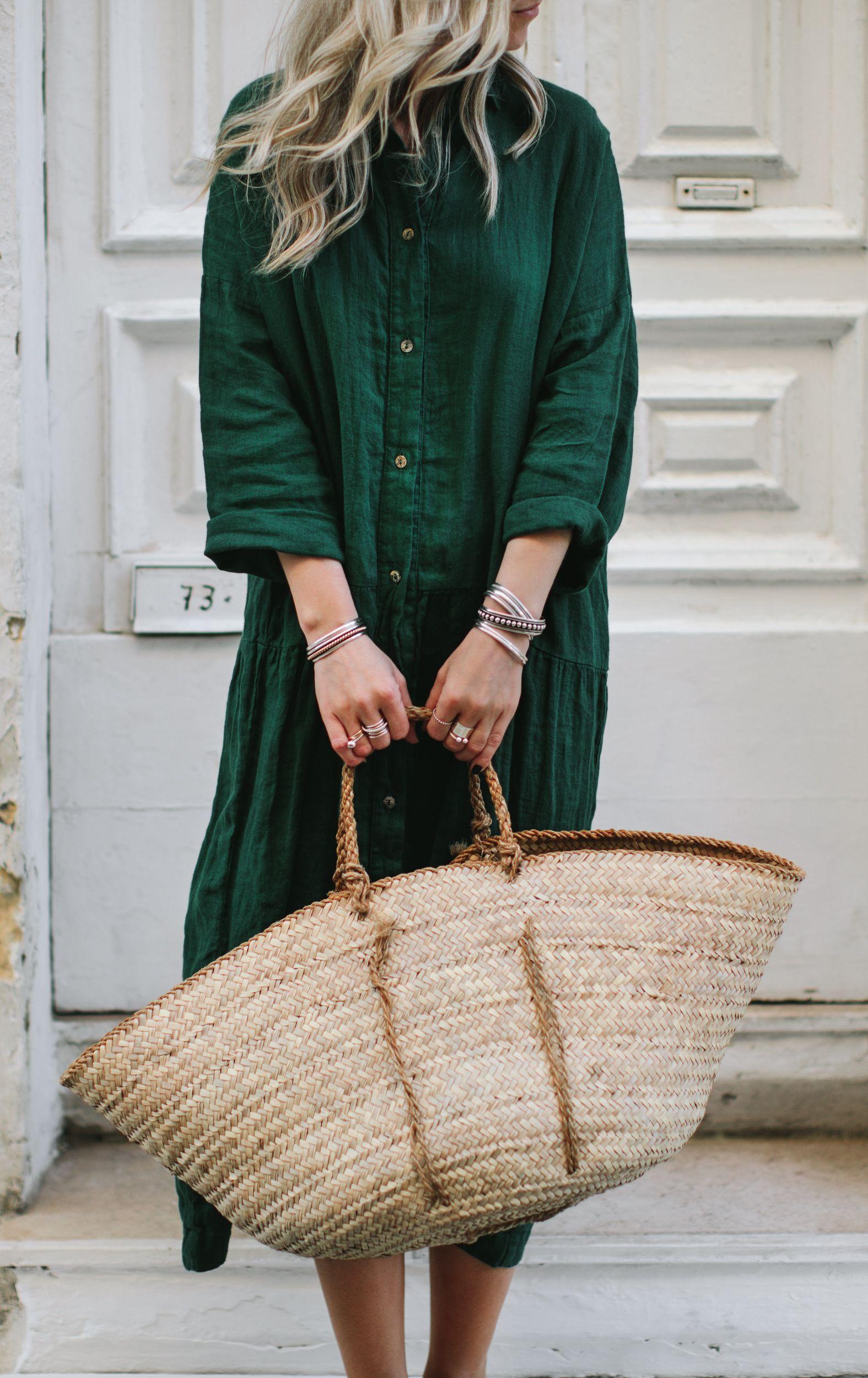 a63ea46dd0 Linen green dress €114 Seaside Tones