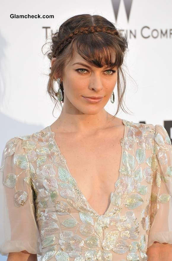 Hairstyles For Fine Hair Milkmaid Braid Bun By Milla Jovovich - Diy hairstyle knotted milkmaid braid