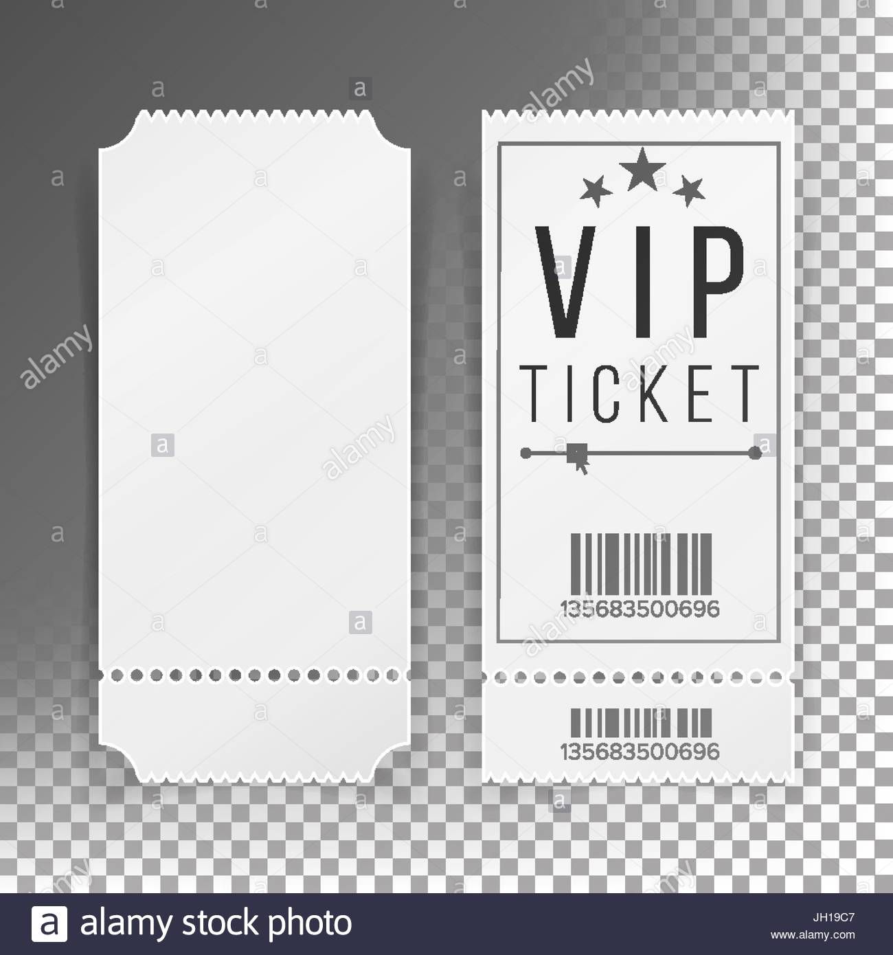 The appealing Ticket Template Set Vector. Blank Theater