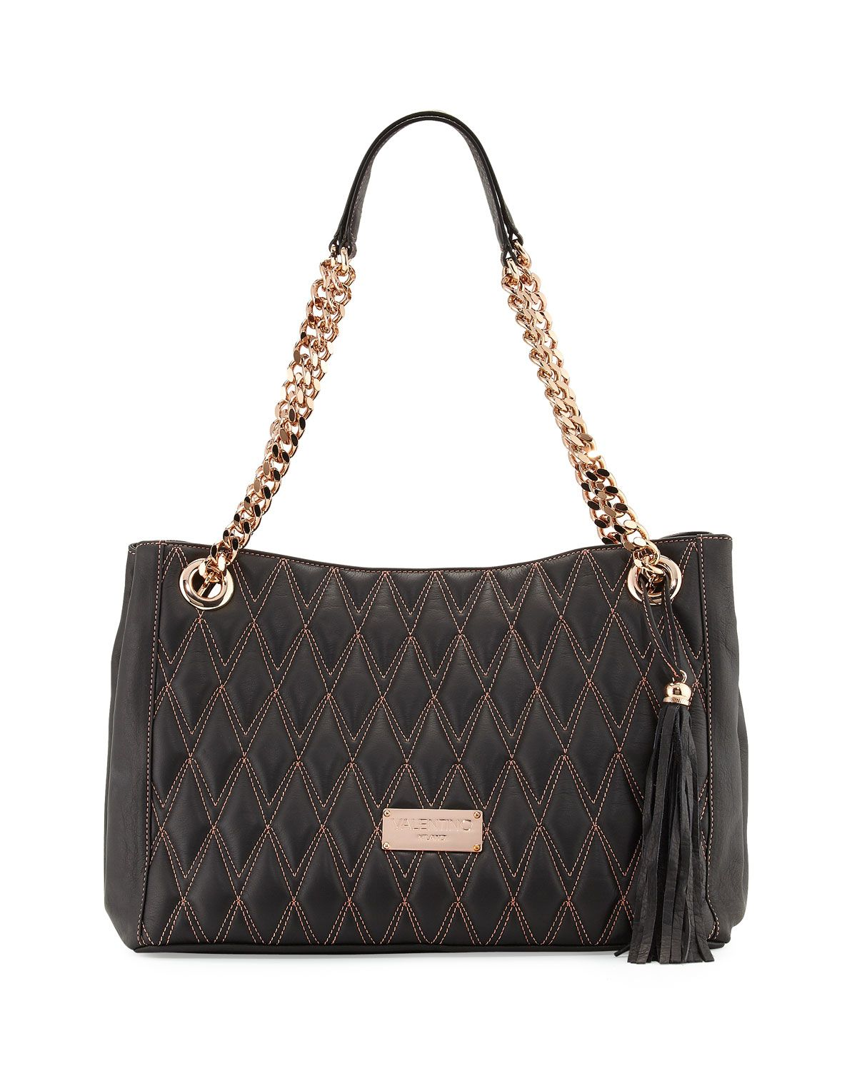 07fe9c21b7fa Verra D Quilted Leather Tote Bag Black in 2019 | *Last Call* | Bags ...