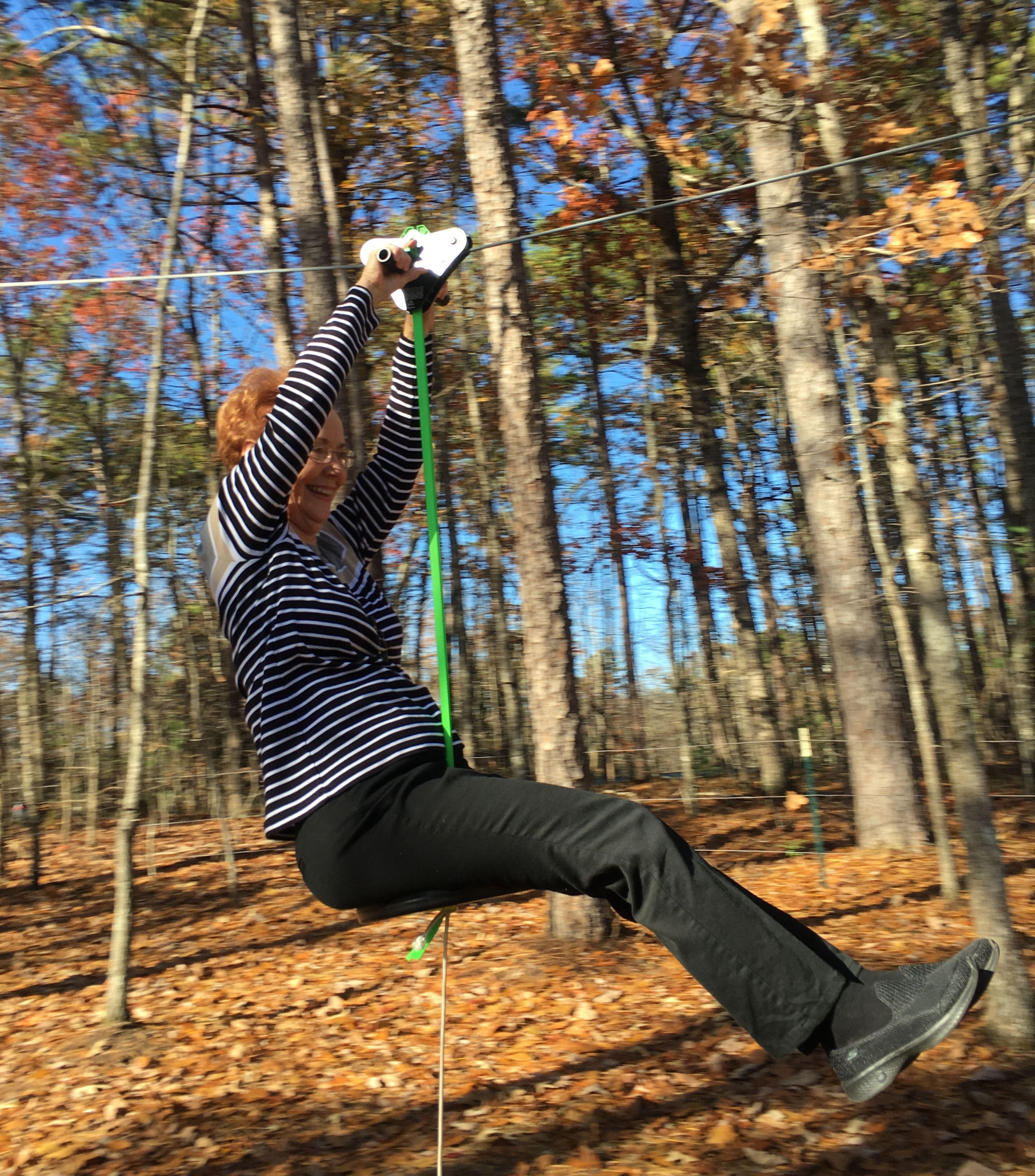 Never too old to have fun! | Zip line backyard, Zip line ...