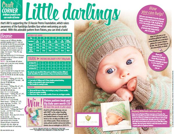 Knit for Premmie Babies (With images)   Magazine crafts ...