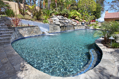 Home pool with Waterslide