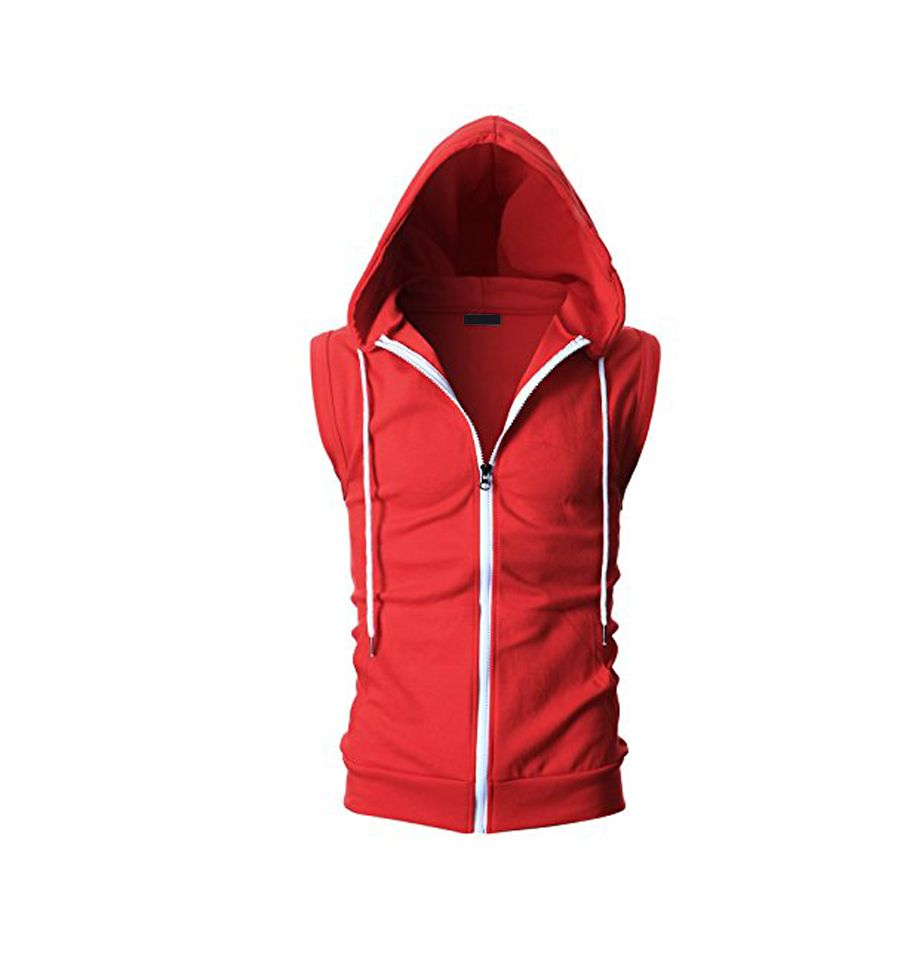 Casual sleeveless hoodie for order email us at