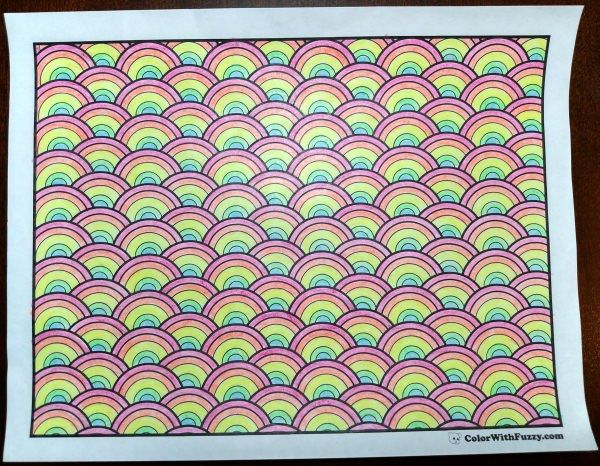 Pattern Coloring Pages Customize PDF Printables  Rainbows and
