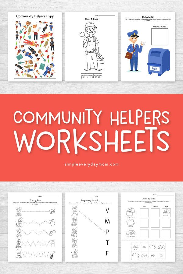 Community Helpers Worksheets That Teach Entertain Kids Kid