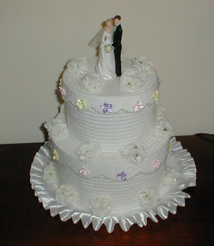 Free Patterns Plastic Canvas Wedding Cake Plastic Canvas