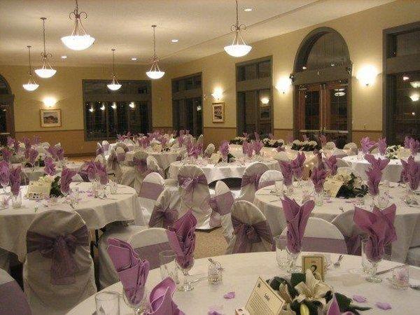 lavender tables, wedding