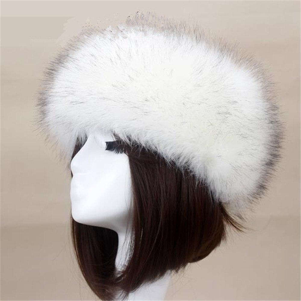 8684064477819 Yyun Luxury Brand Russian Cossack Style Faux Fur Headband for Women Winter  Earwarmer Earmuff Hat Ski