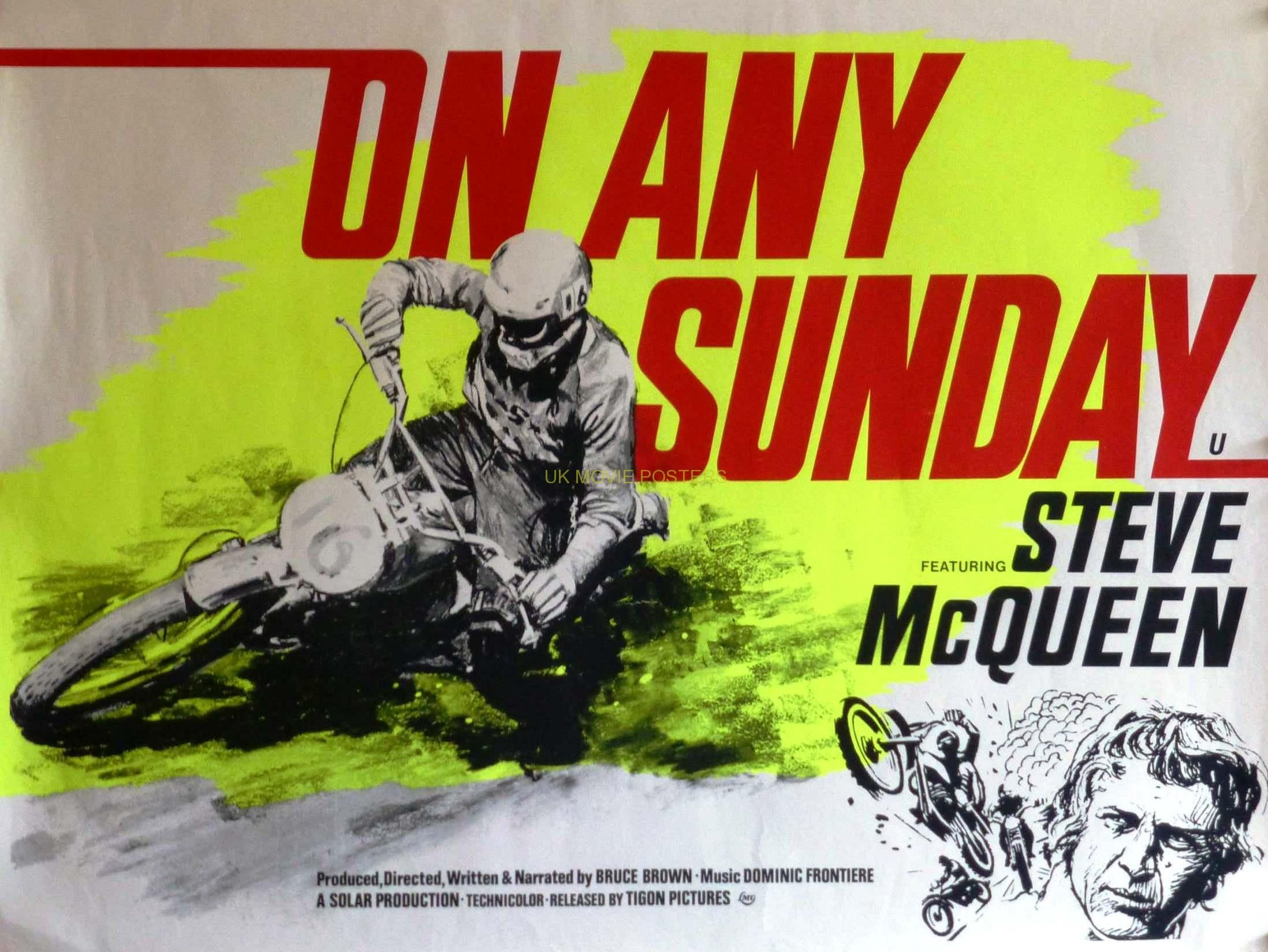 ON ANY SUNDAY (STEVE MCQUEEN) | UK Movie Posters