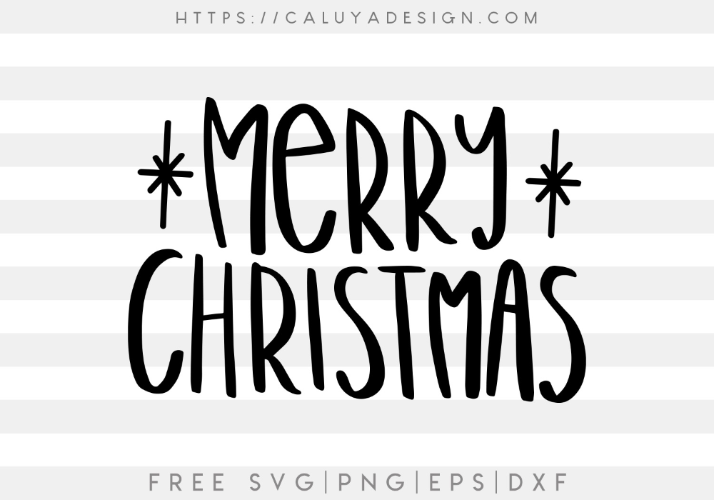 Download Free Handwritten Merry Christmas SVG, PNG, EPS & DXF ...