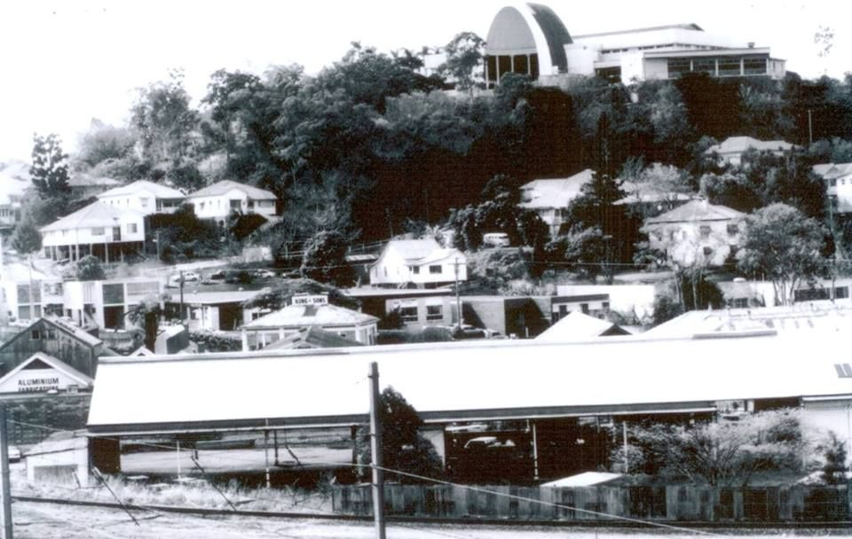 A view from the railway line (old Bowen Hills station ...