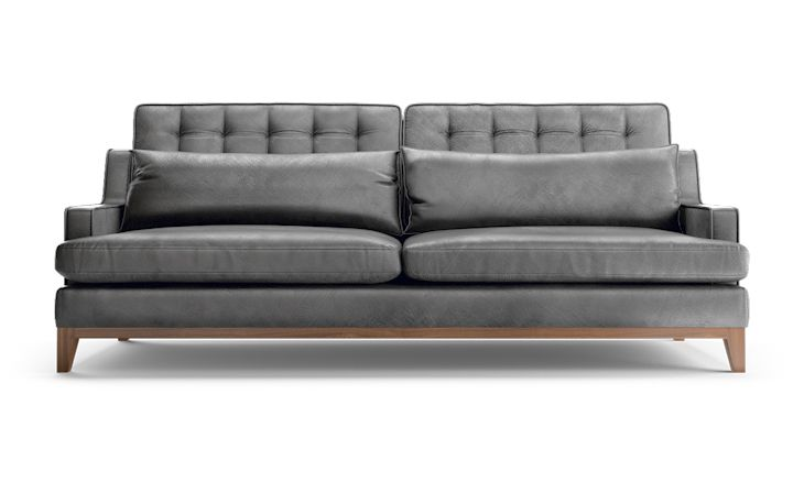 Hemingway Leather Sofa (Custom) - Image