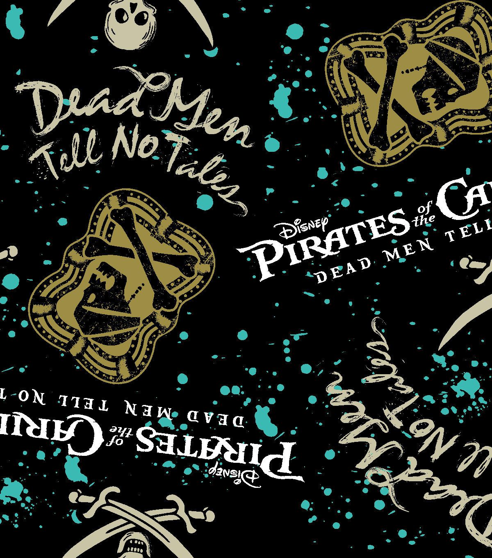 Disney pirates of the caribbean fleece fabric