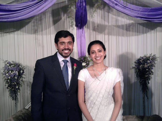 Malayalam Actor Nivin Pauly with Wife Rinna Joy on their