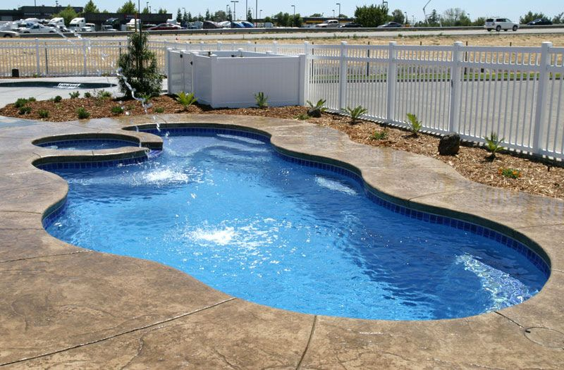Laguna deluxe pool by viking pools and pits viking - Swimming pool electrical deck box ...