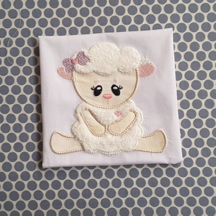 Baby Applique Machine Embroidery Design Cute Lamb by