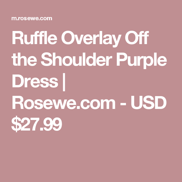 Ruffle Overlay Off the Shoulder Purple Dress   Rosewe.com - USD $27.99
