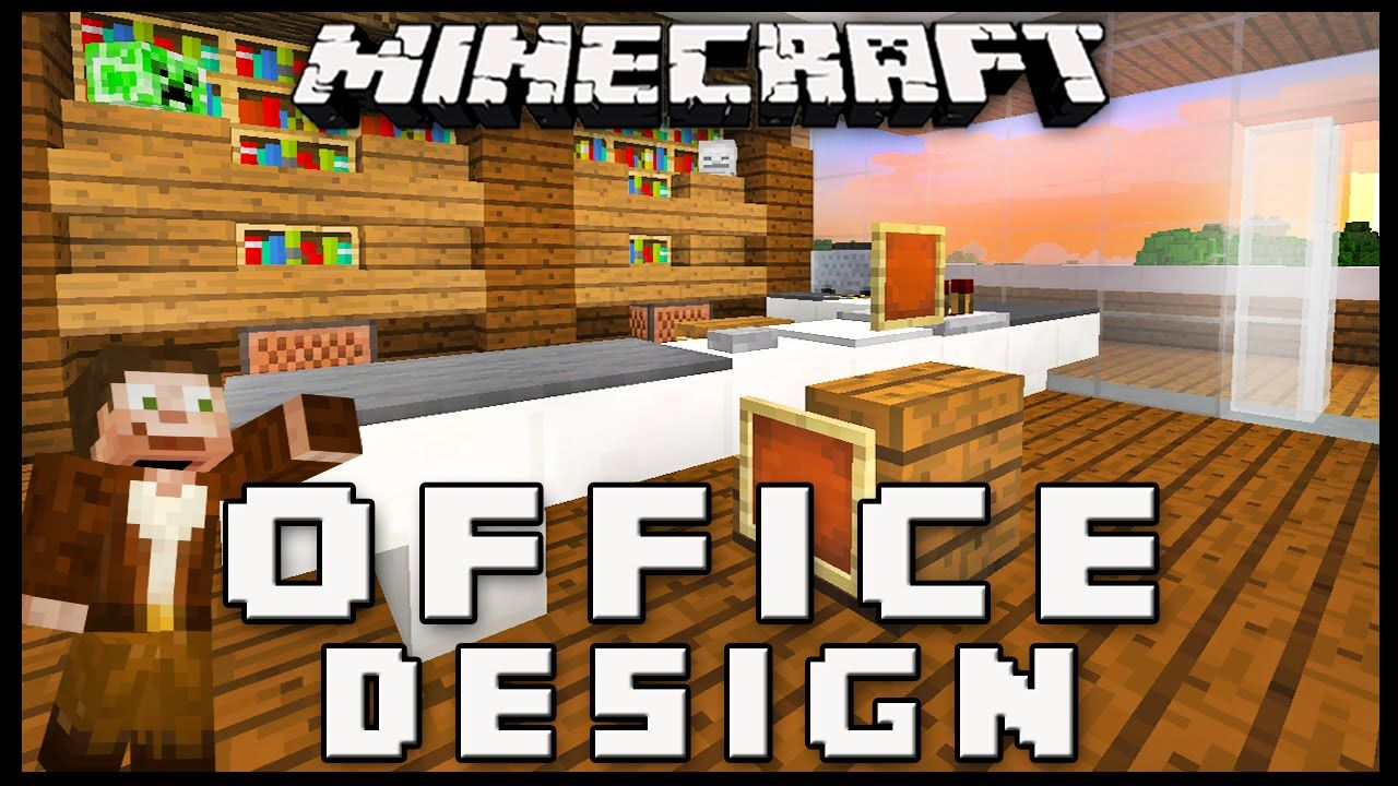 Minecraft How To Make Furniture For An Office Modern House Build Ep 15 Minecraft Modern Building A House Minecraft Houses For Girls