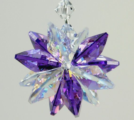 m/w Swarovski Crystal Blue Violet / Purple and by pearlplaceNmore, $19.00