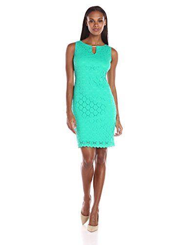 Ronni Nicole Sleeveless Lace Sheath Dress with Keyhole in Mint - http://www.womansindex.com/ronni-nicole-sleeveless-lace-sheath-dress-with-keyhole-in-mint/ #RonniNicole
