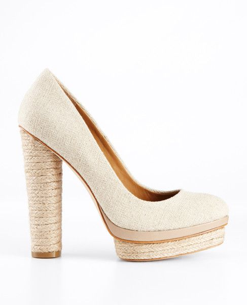 at Ann Taylor, Carly Canvas Platform Pumps....ooooh yeah