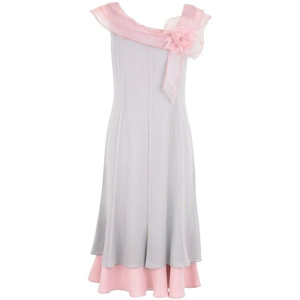 Jacques Vert Organza and rose dress ($110) ❤ liked on Polyvore
