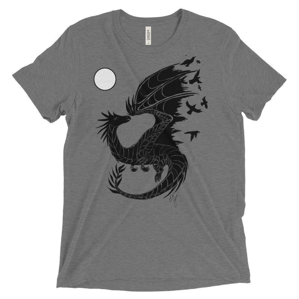 Magic Dragon/Raven Moon Short sleeve t-shirt