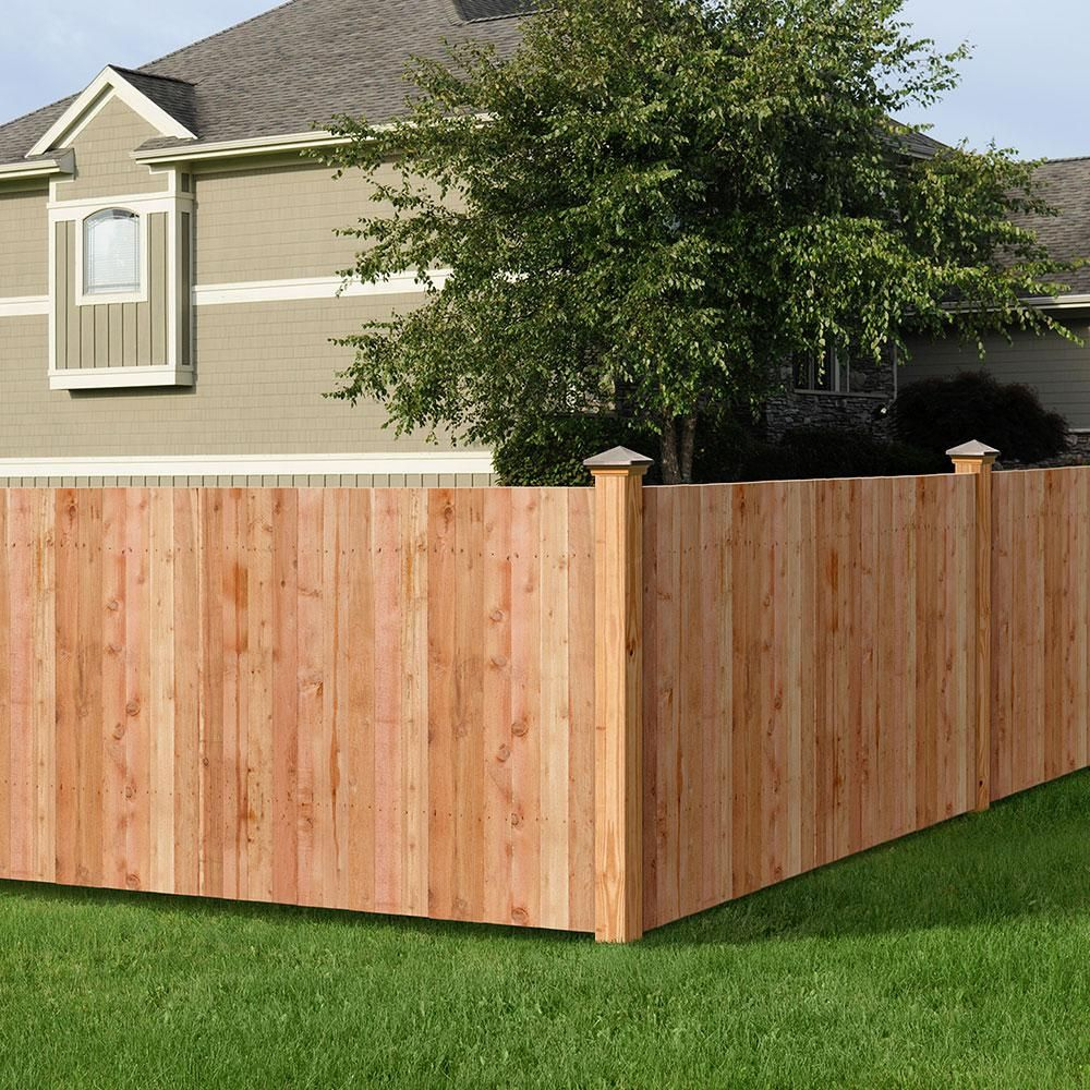 Outdoor Essentials 5 8 In X 3 1 2 In X 3 1 2 Ft Western Red Cedar Flat Top Fence Picket 27 Pack 239671 The Home Depot Outdoor Essentials Wood Fence Cedar Fence