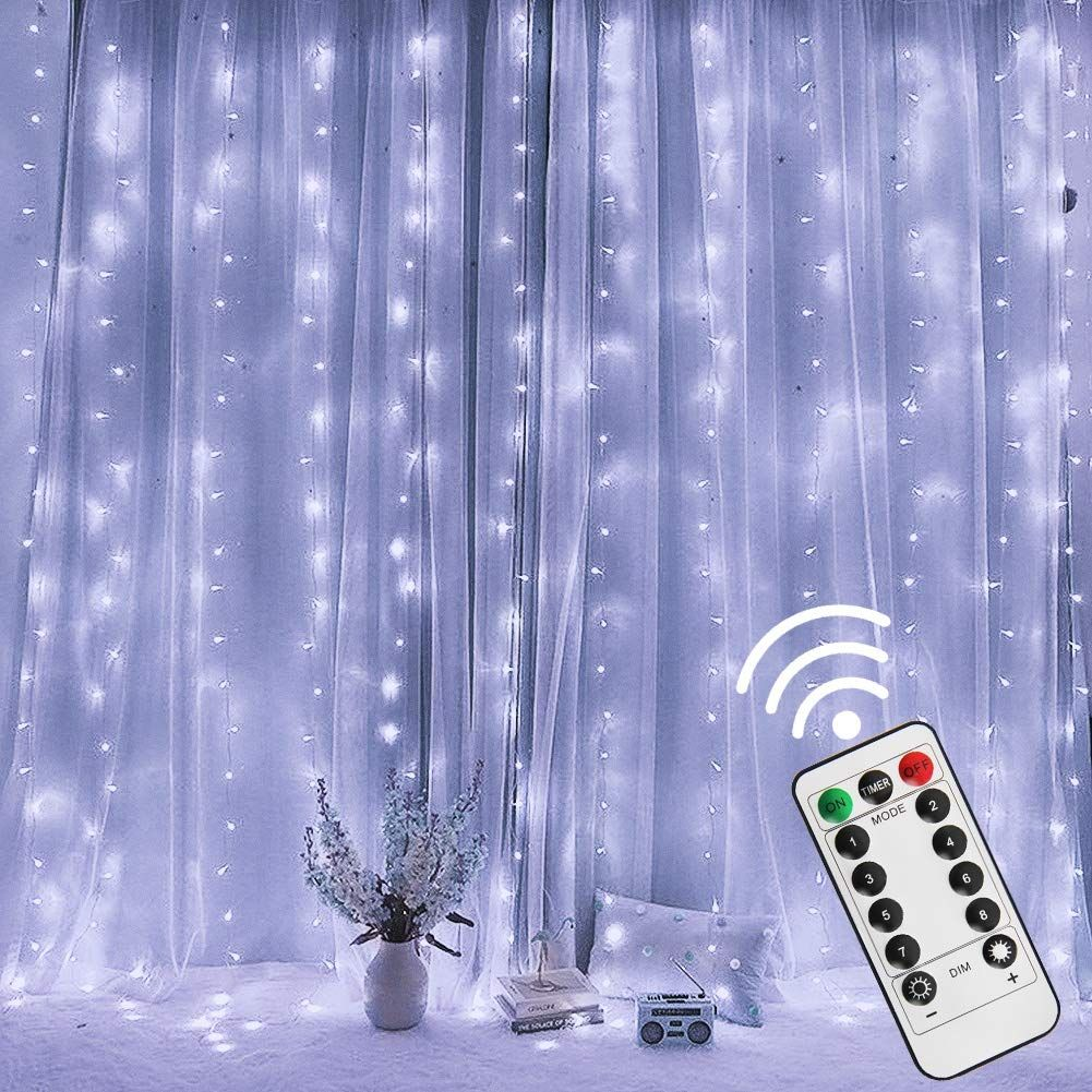 Twinkle Star 300 Led Window Curtain String Light With Remote