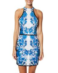 PIPER LANE MIRRORED SPORTS LUXE DRESS - MIRRORED FLORAL on http://www.surfstitch.com
