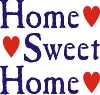 Home Sweet Home ♥ red and blue