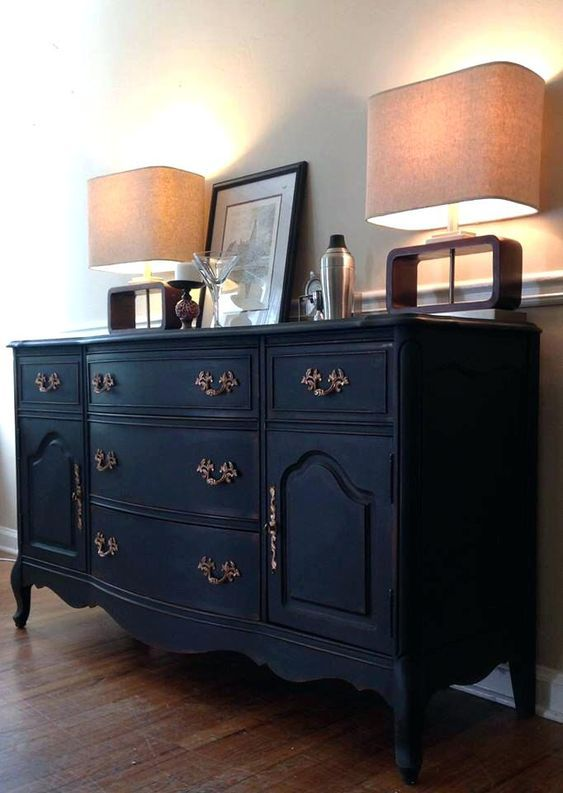 blue sideboard buffet french vintage antique shabby chic distressed ...