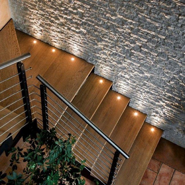 Pin de ing jose en mobiliario e ideas ik4 pinterest escalera iluminaci n y barandales - Iluminacion de escaleras ...