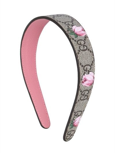 2ccc182327c FLORAL GG SUPREME FAUX LEATHER HEADBAND