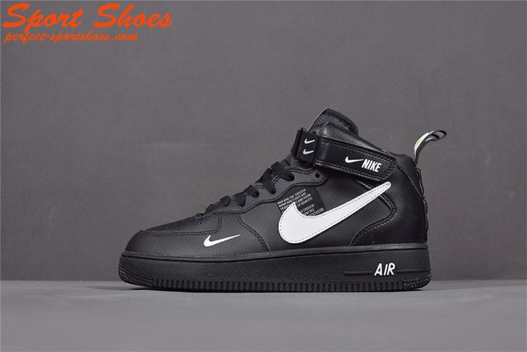 a3237451666c4 2019 Latest Fashion Nike Air Force 1 Utility High Tops Shoes Mens Casual  Shoes Black White