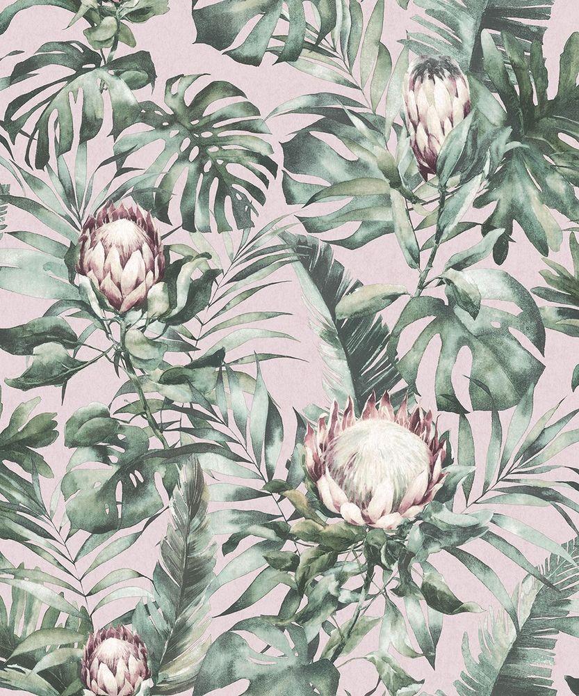Tropical Palm. Holden Decor Glasshouse Protea Floral Dusty