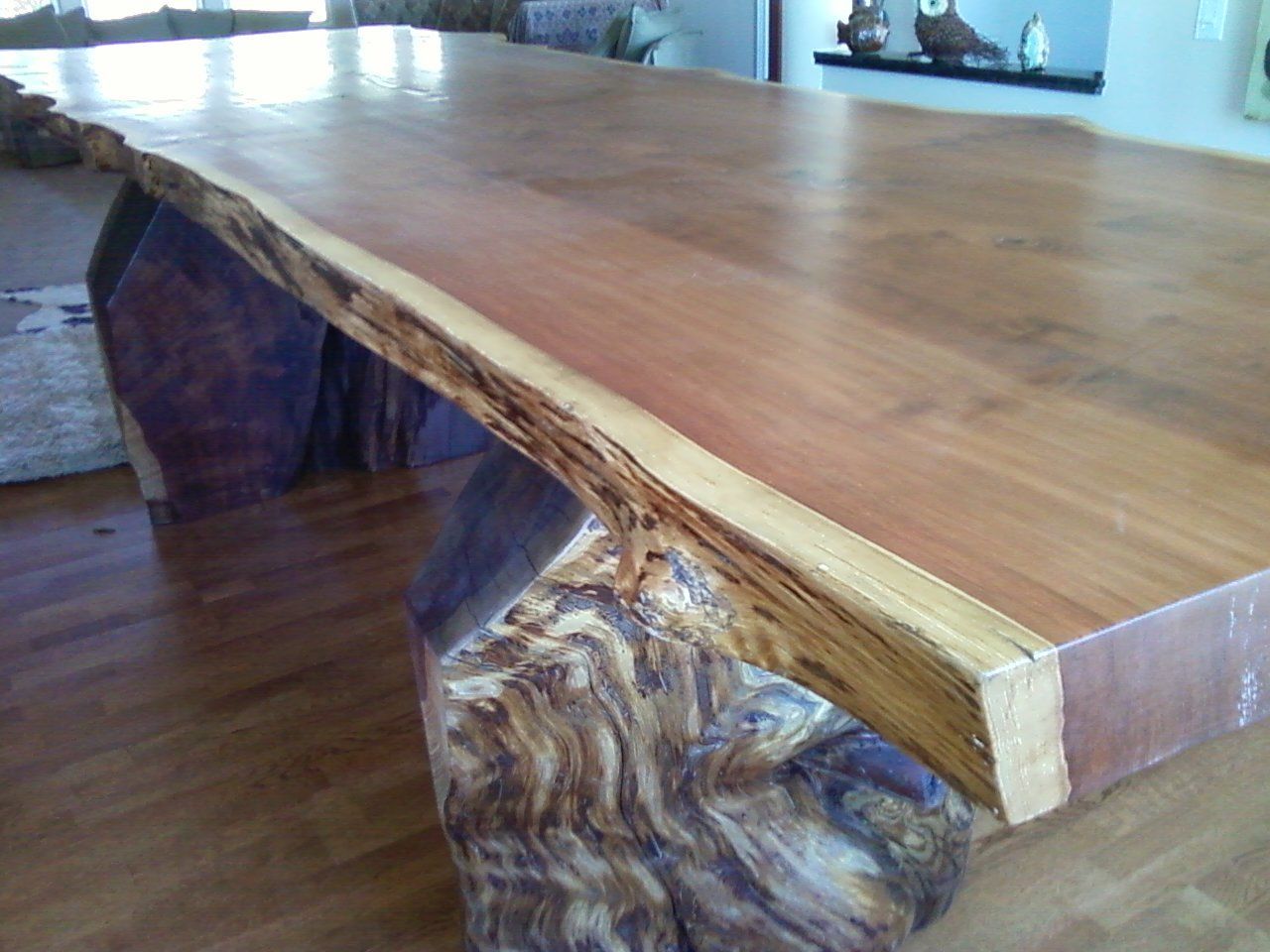 Redwood Table Finished With Minwax Clear Satin