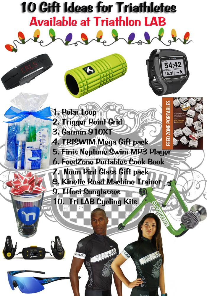 Here are 10 great gift ideas for the triathlete on your shopping gift list!