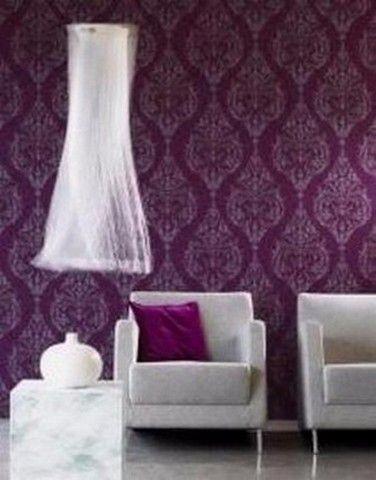 barok behang vlies paars 33 | Interieur | Pinterest - Barok, Paars ...