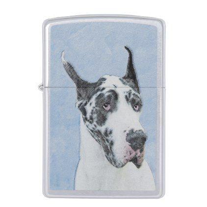Great Dane Harlequin Zippo Lighter Great Dane Puppy Danes