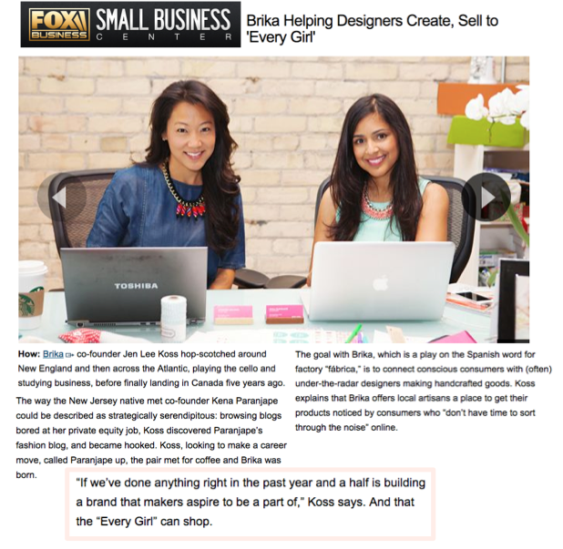 Fox Small Business featured our client BRIKA! Head over to our blog to read all about the founders fascinating stories #BRIKA #FOX #WomeninBusiness #Entrepreneur #JenKena