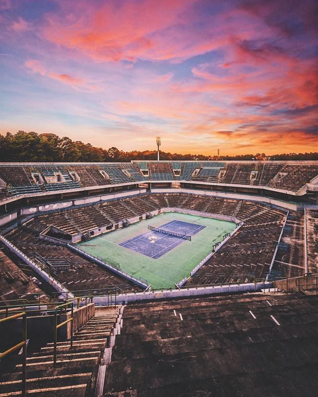 The Abandoned Stone Mountain Tennis Center. About 30