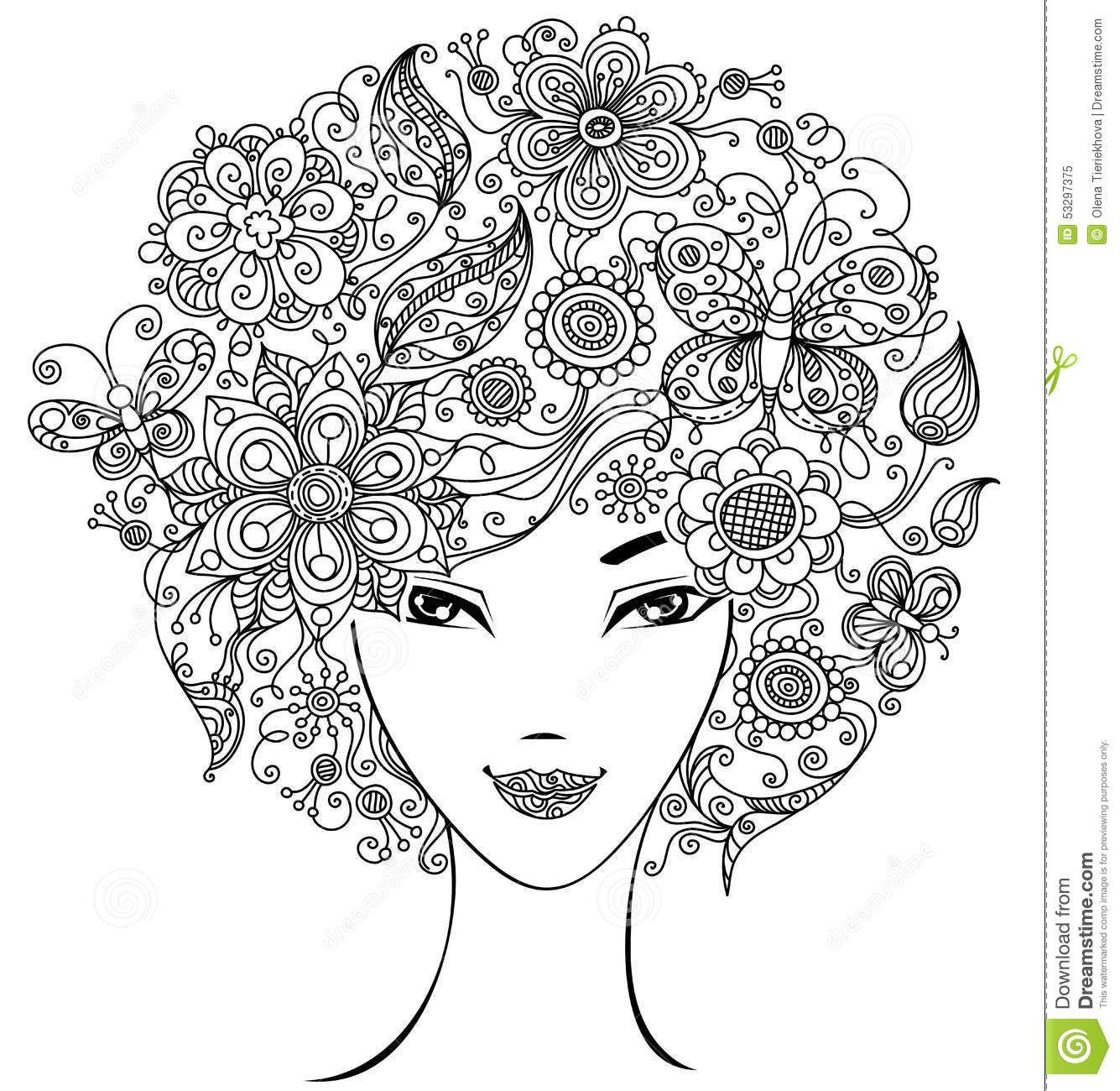 Resultado de imagen de mujeres para pintar adultos | diseño ...